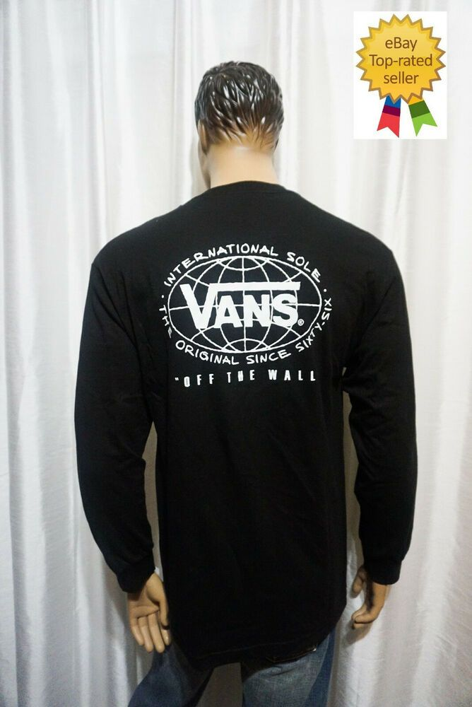 160f68c976 Vans Off The Wall mens skate MN INTERNATIONAL WALL long sleeve graphic tee  L NEW