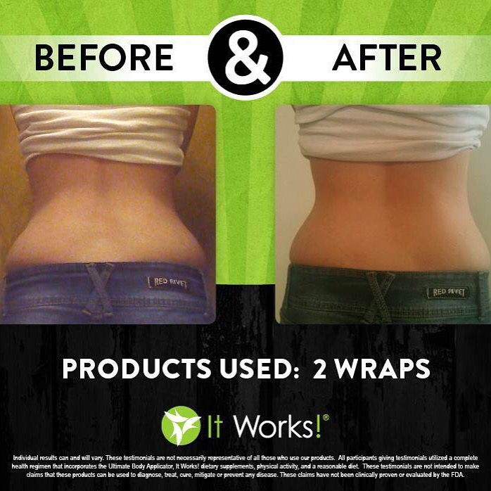WOW, these results are amazing!   June 2016 Special 1 wrap is only $20 contact Heather at 740.972.3481
