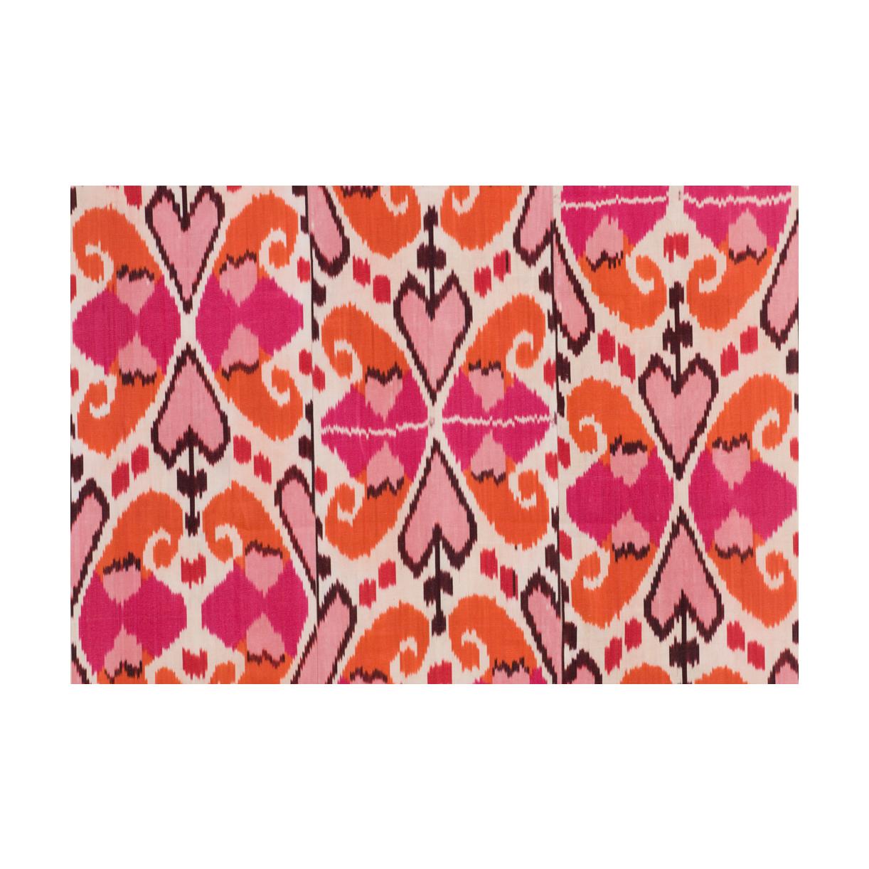 Hot Pink & Orange Mor Ikat Fabric