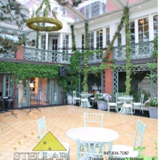 Spectacular 2-Story Tent with Hardwood Floor and Mossy Chandelier #wedding # tent & Spectacular 2-Story Tent with Hardwood Floor and Mossy Chandelier ...