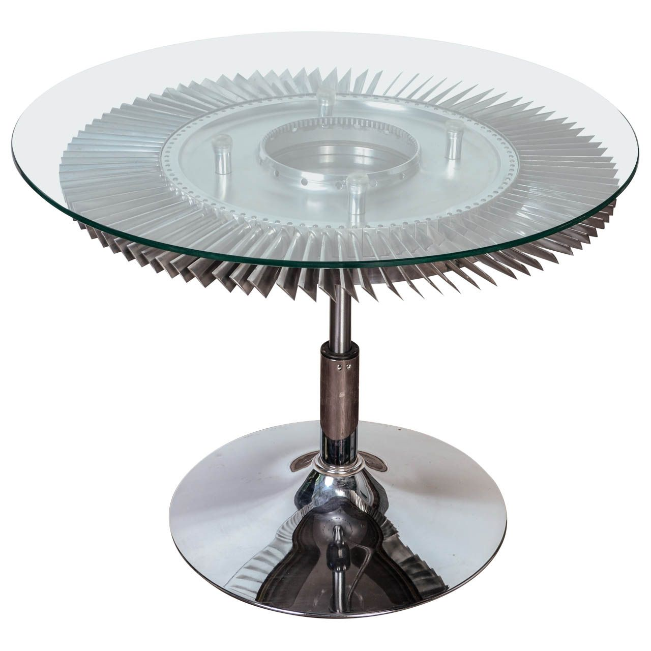 Aviation Jet Engine Turbine Fan Coffee Table From A Unique