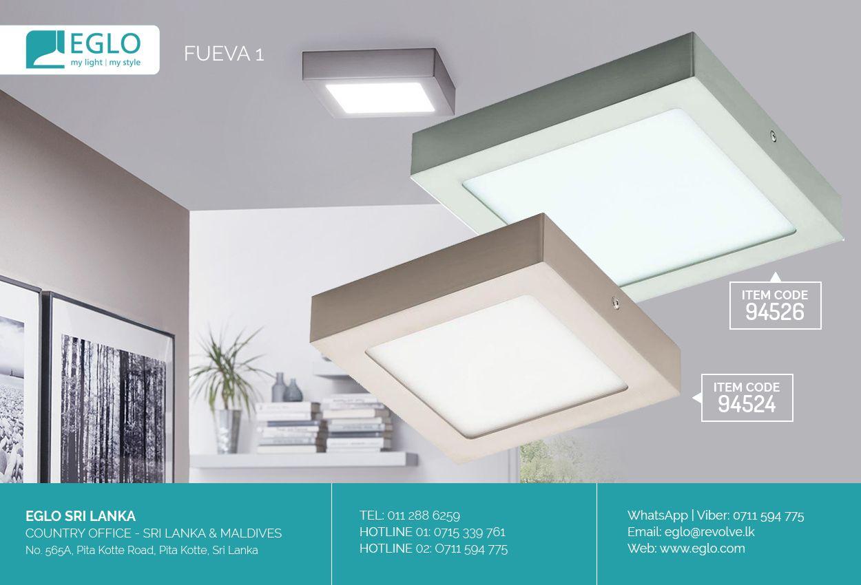 Eglo Fueva 1 Modern Led Lighting Fixtures Eglo Modern Led Lighting Led Light Fixtures