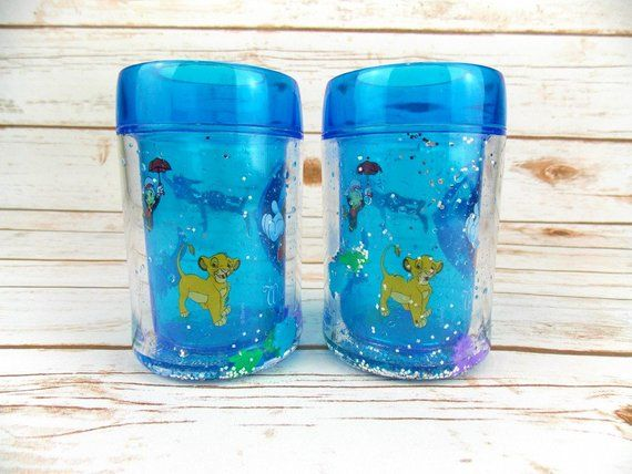 Walt Disney World Children's Cups, Disney Cups, Sparkle Cups, Mickey Mouse, Lion King, Peter Pan, Dumbo, Jiminy Cricket #disneycups