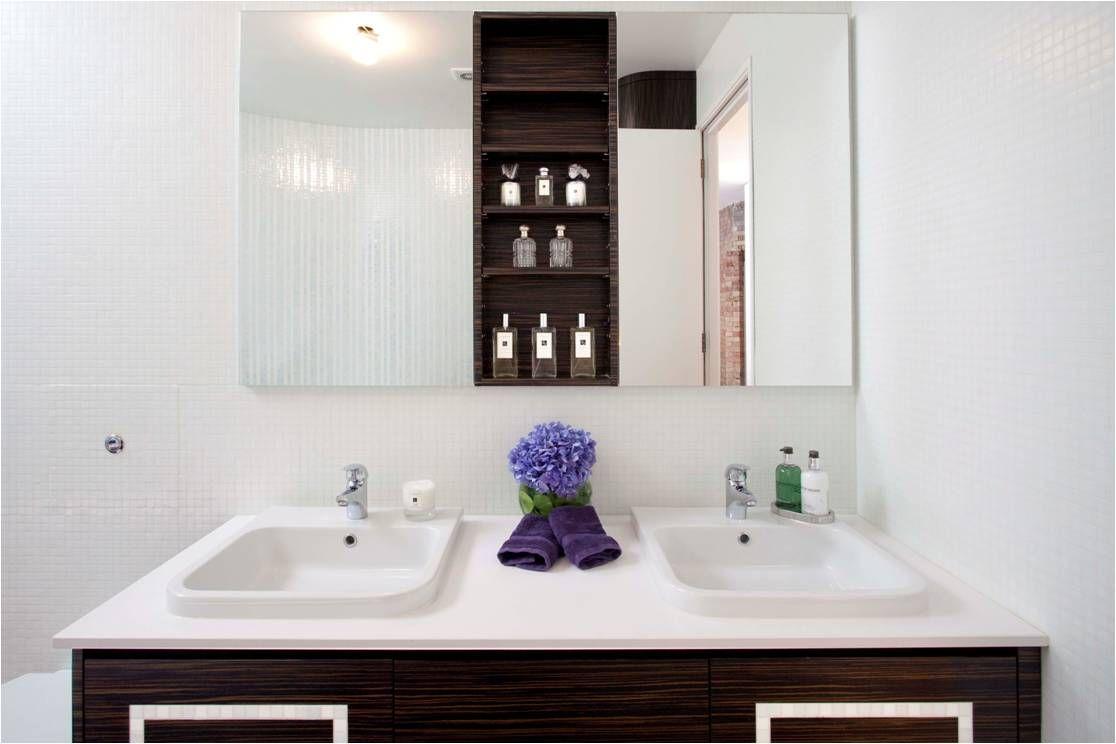 Luxury Bathroom Vanity Units luxury bathroom, dark brown vanity unit, white top - increation