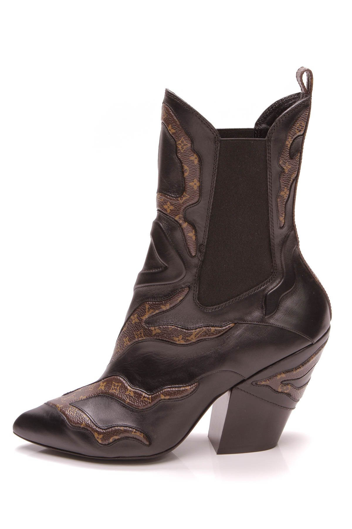 aee9236921271b Fireball Heeled Ankle Boots - Monogram/Leather Size 39 in 2019 ...