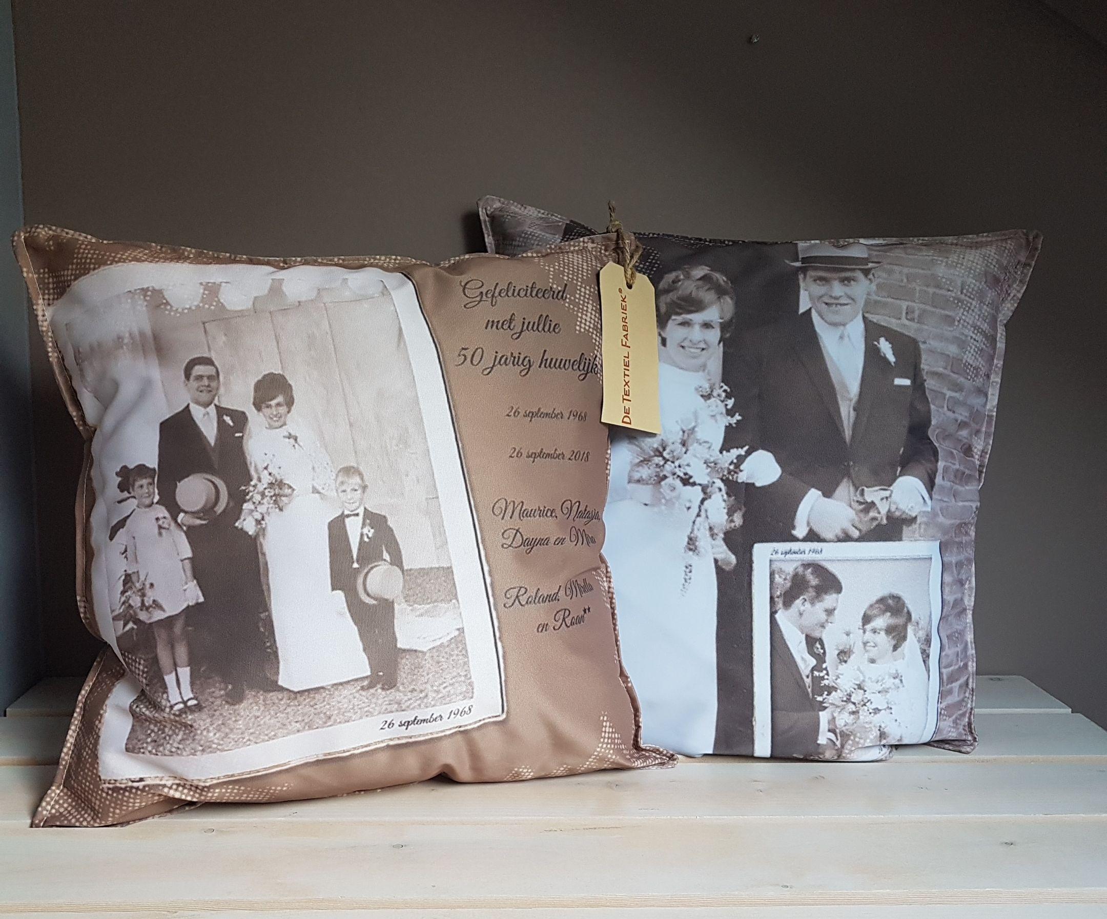 Hedendaags Textielposters unieke wanddecoratie | 40-jarig huwelijk, 50-jarig PI-33