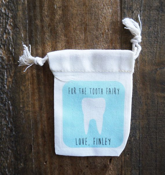 Personalized Tooth Fairy Bag // Boys Tooth Fairy by FINCHandFOX