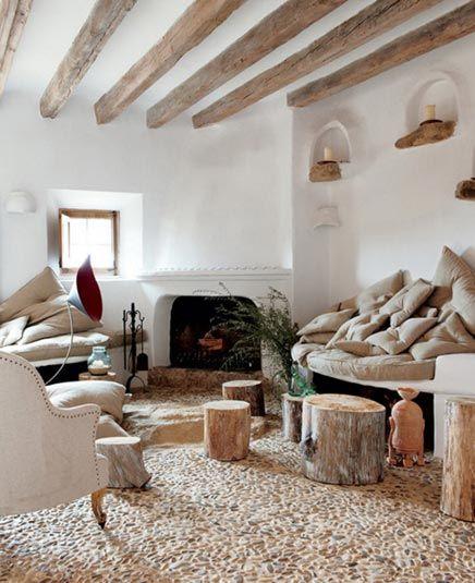 Exotische woonkamer met natuurlijke kleurtinten - Balken, Inspiratie ...