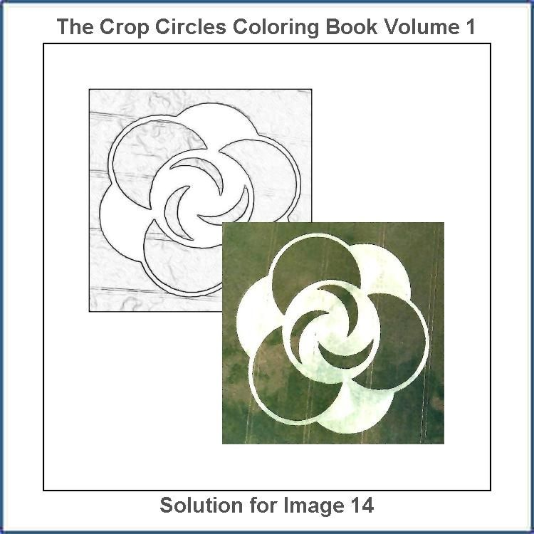 Solution For The Drawing Number 14 From The The Crop Circles Coloring Book Coloring Books Coloring Book Therapy Coloring Book Set
