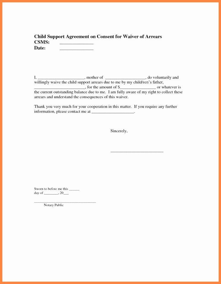 Notarized Custody Agreement Template Elegant Notary Form