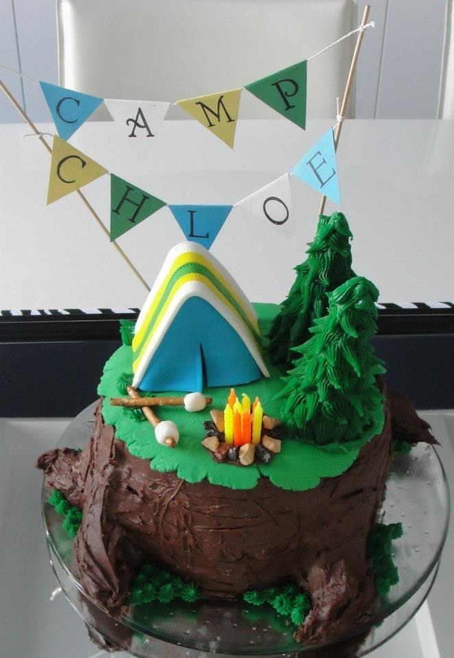 Marvelous Camping Birthday Cake Deco Food Camping Birthday Cake Camping Funny Birthday Cards Online Bapapcheapnameinfo