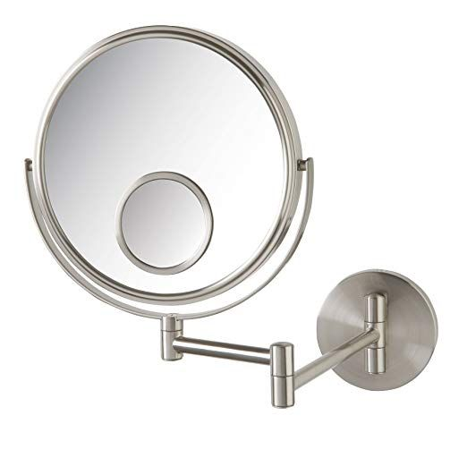 Jerdon JP7510N 8-Inch Wall Mount Makeup Mirror with 10x ...