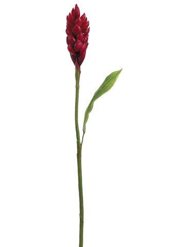 "30"" Mini Red Latex Ginger | Tropical Silk Flowers"