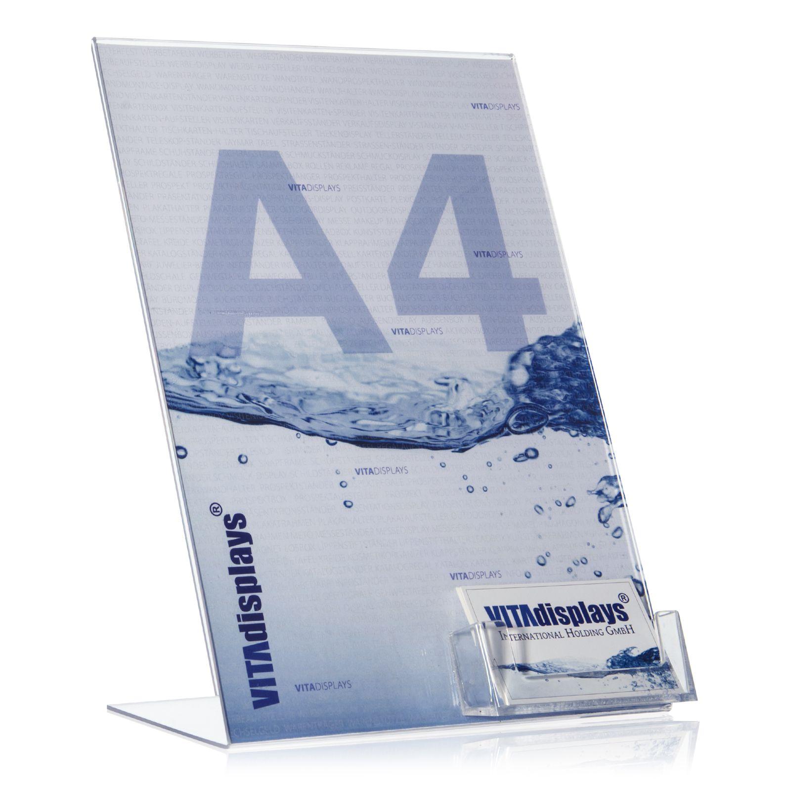 Din A4 Werbeaufsteller Mit Visitenkartenhalter