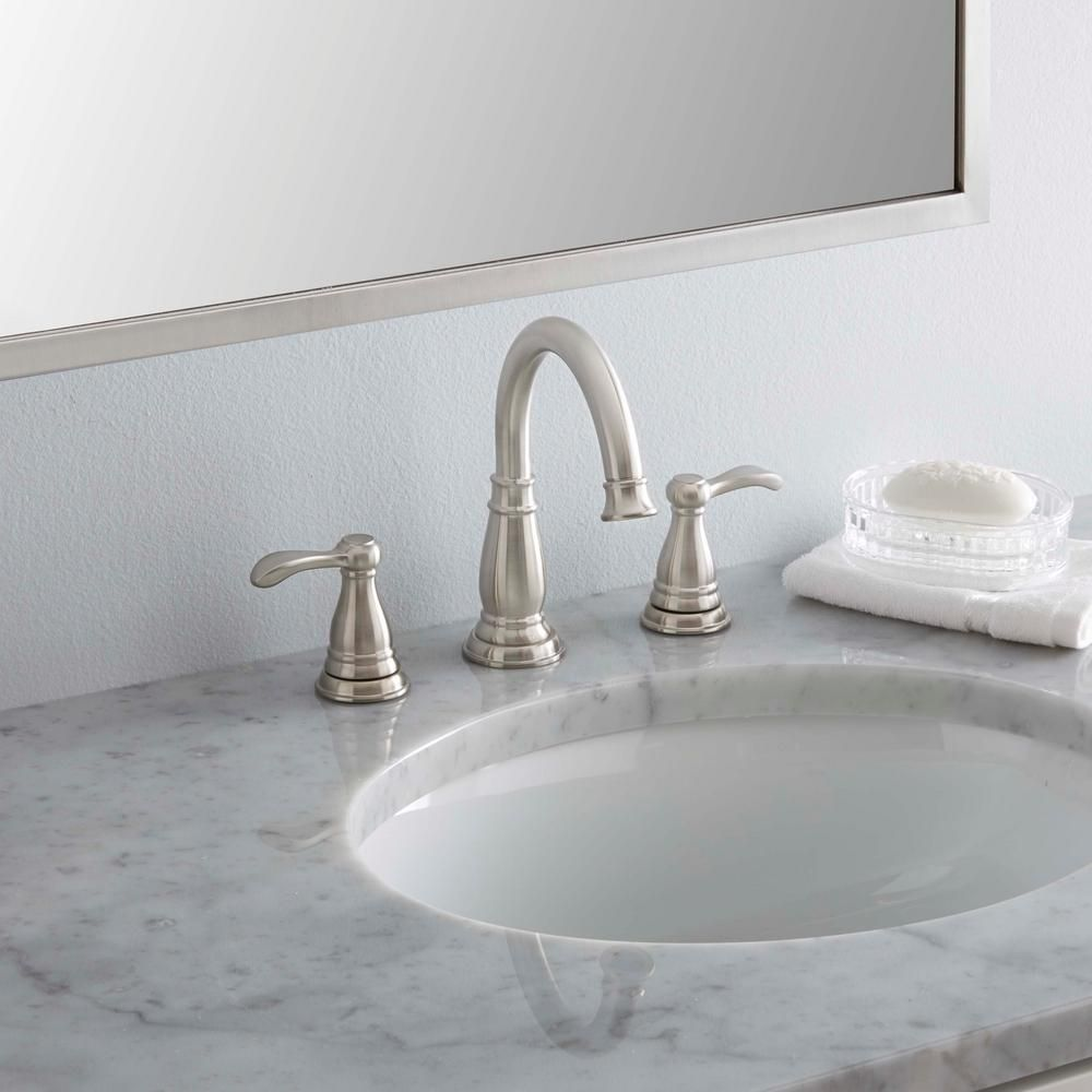 Delta Porter In Widespread Handle Bathroom Faucet With Metal - Bathroom sink faucet drain assembly