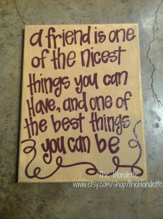 Friend quote 9 x 12 inch canvas art. Quote Canvas. Friendship ...