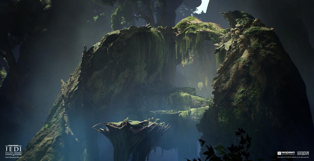 Artstation Star Wars Jedi Fallen Order Kashyyyk The Origin Tree Lucas Sparks 2020