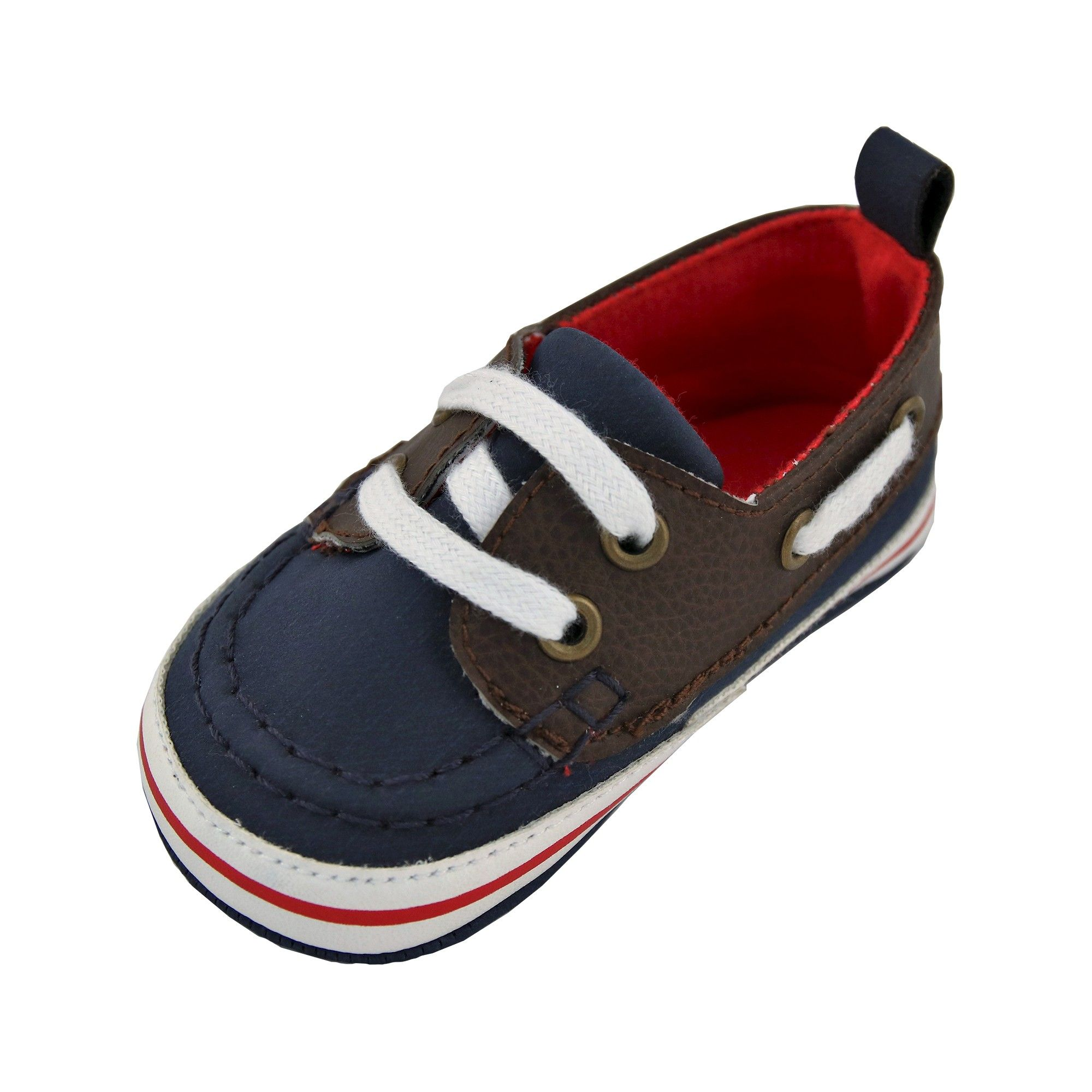 Baby Boys Rising Star Boat Shoe Crib Shoes Navy 3 6M Size 3 6 M