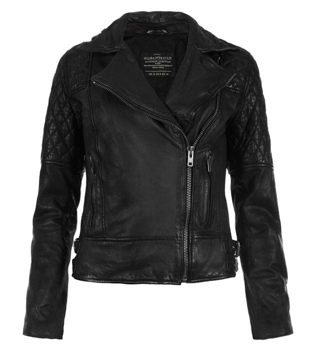 It doesn't get more classically bad-girl than a perfectly worn-in black leather moto jacket. The AllSaints Walker Leather Biker Jacket is a wearable cool-chick archetype. Buy through AllSaints for $575.