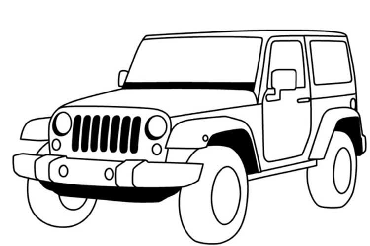 Easy Jeep Drawing Step By Step