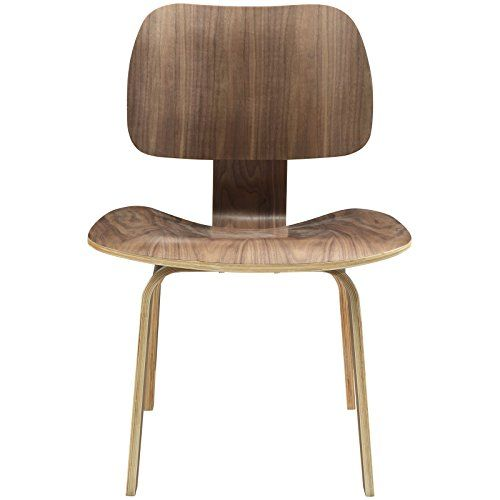 Modern Contemporary Wood Dining Side Chair Walnut America…