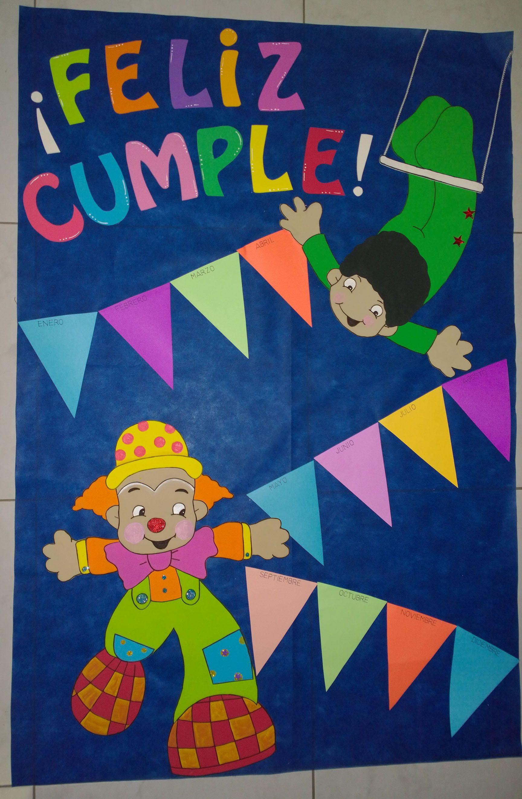cartelera cumpleaños (los meses del año en banderines)  f975022b36c