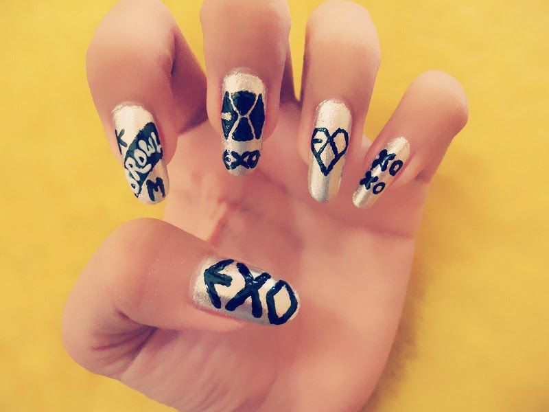 24 best Exo nail Art images on Pinterest | Exo, Korean nails and Beauty