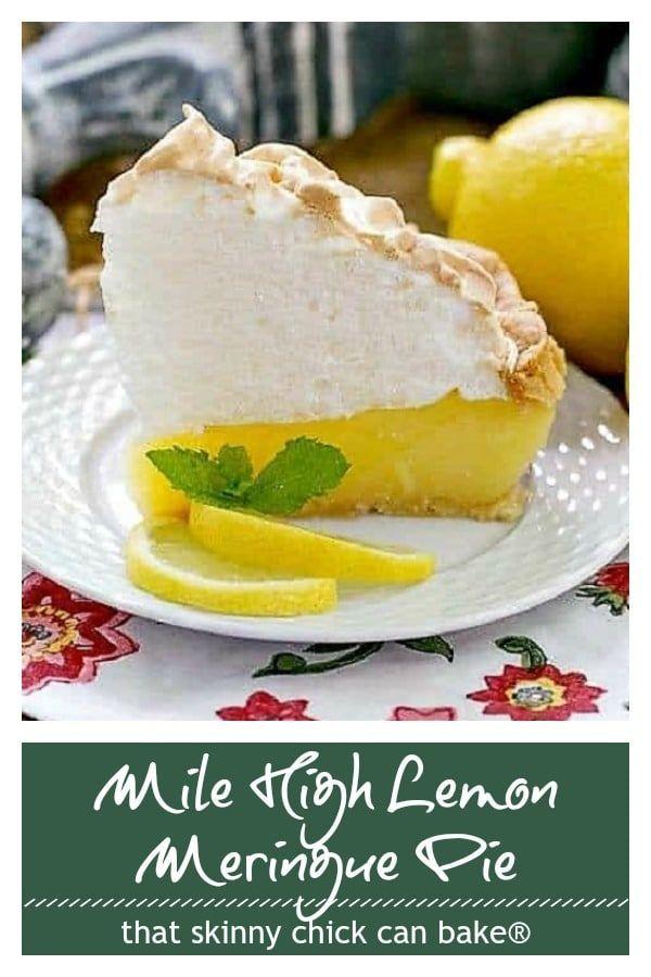 Lemon Meringue Pie - That Skinny Chick Can Bake