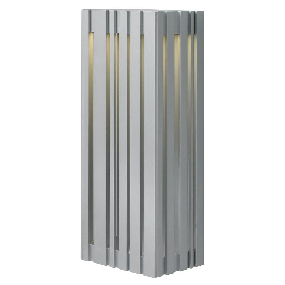 Uptown light silver outdoor large led wall light products