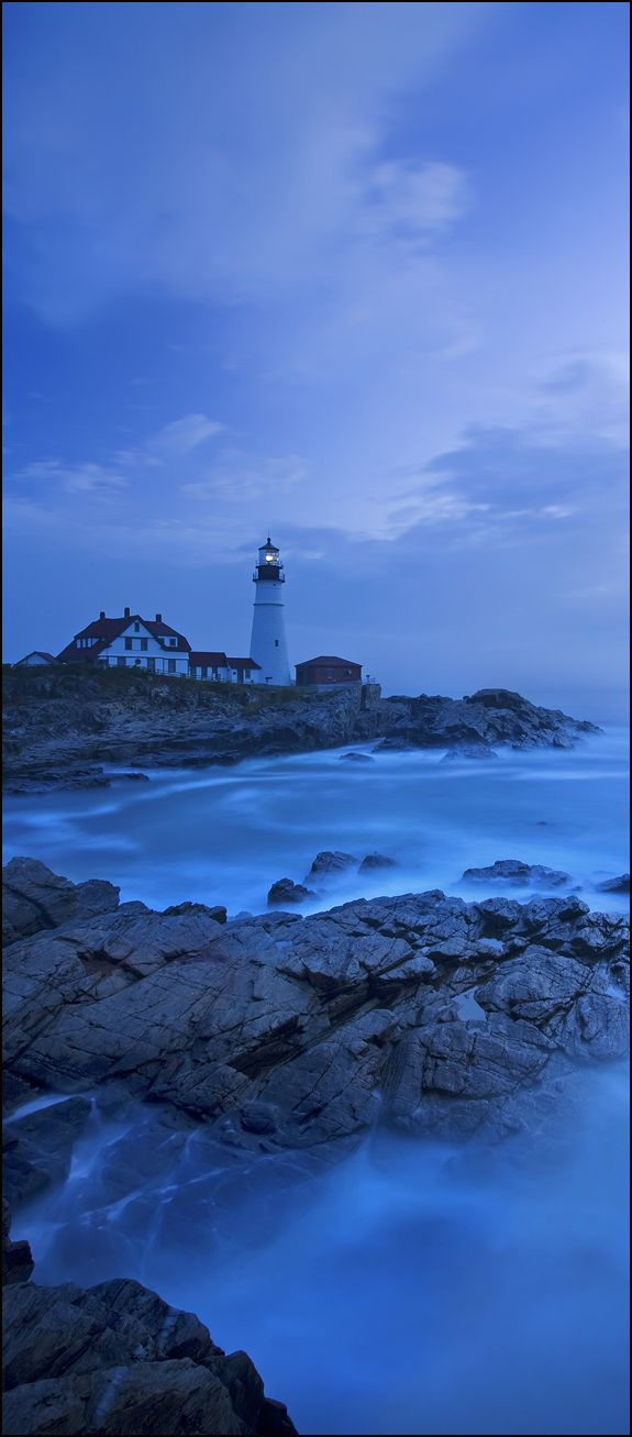 Portland Head Light is a historic lighthouse in Cape Elizabeth, Maine. The light station sits on a head of land at the entrance of the primary shipping channel into Portland Harbor, which is within Casco Bay in the Gulf of Maine.