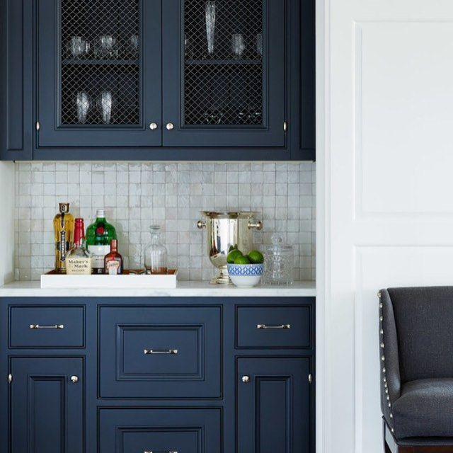 Houzz Amearica On Instagram Theofficialhouzz Blue Kitchen Cabinets Kitchen Inspirations Kitchen Remodel