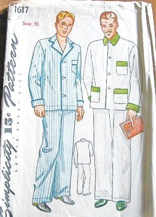Men\'s Two Piece Pajamas with Piping Patch by LetYourselfSew, $4.00 ...