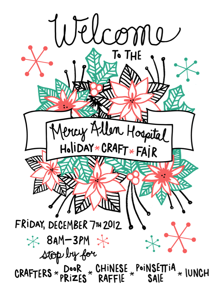 The Lovely Forest Holiday Craft Fair Poster Christmas Trees