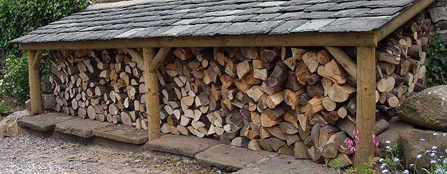Superior Log Shed Design 2 (640×250) · Wood Storage ...