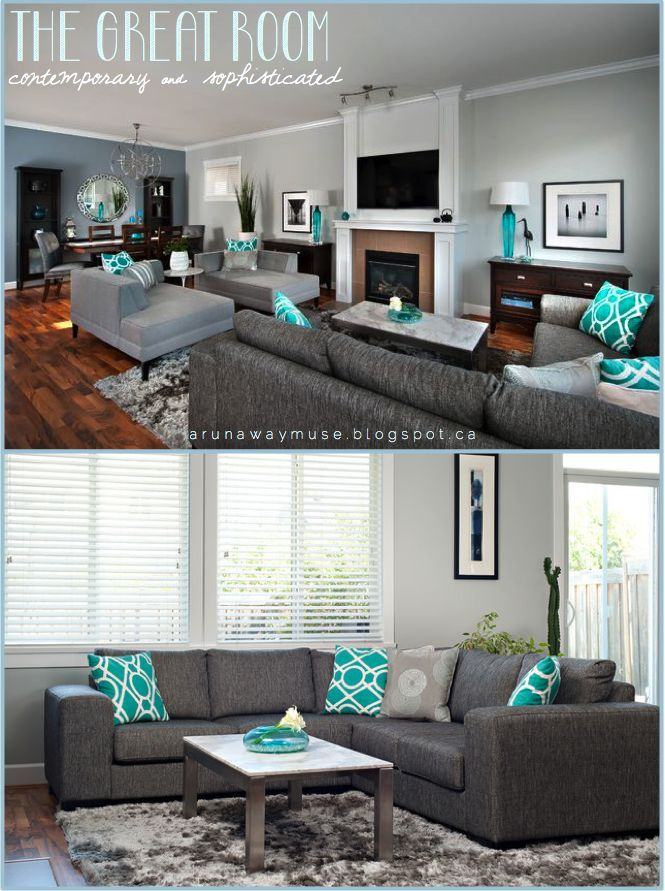 20 Gorgeous Turquoise Room Decorations and Designs | Accent colors