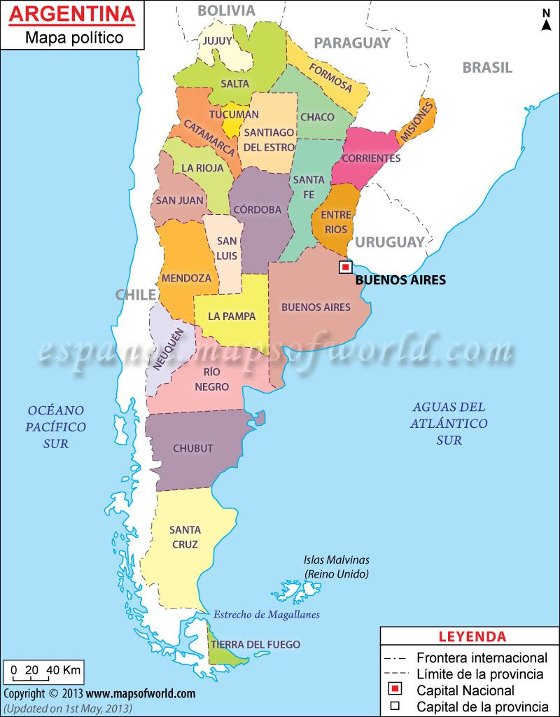 Mapa politico de argentina mapa de argentina politico argentina argentina political map features the international boundary the county boundaries with their capitals national capital and other important cities gumiabroncs Images