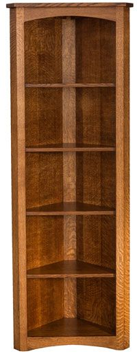 Amish Outlet Store : Mission Corner Bookcase in Cherry