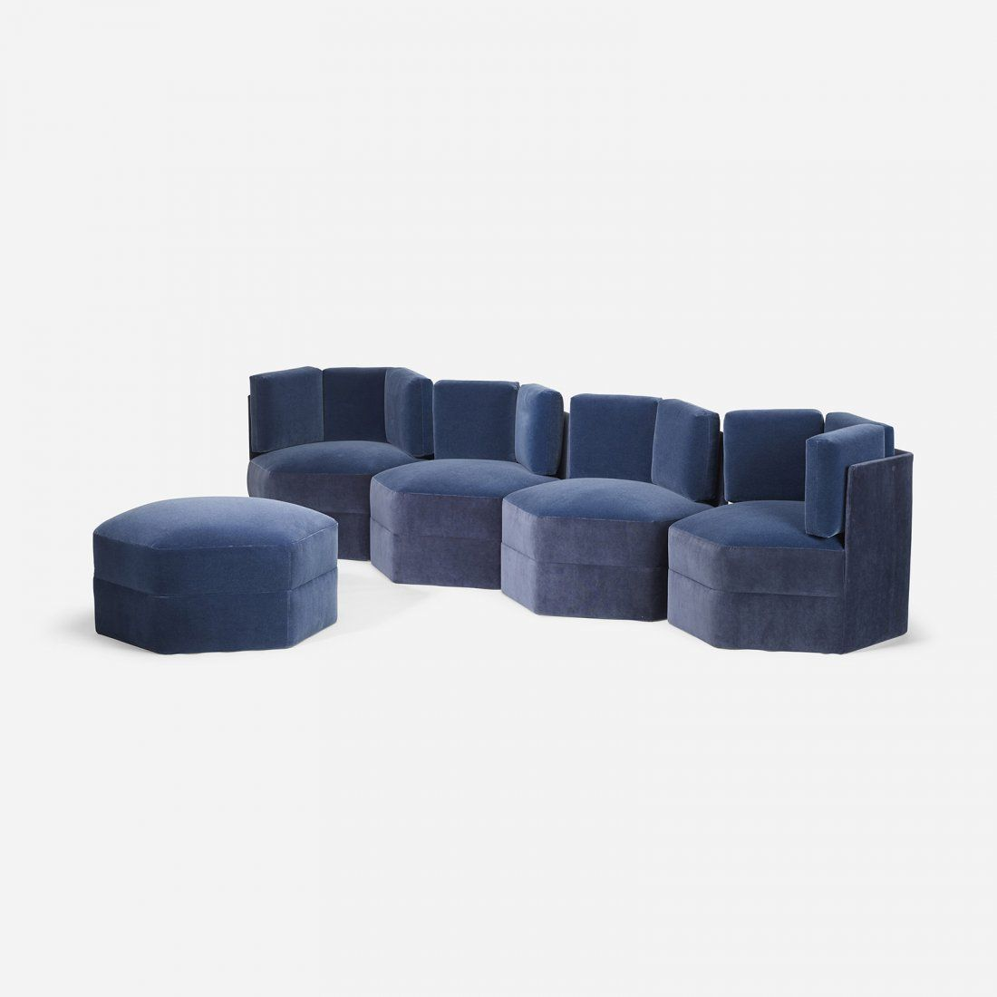 Paul Evans Modular Sectional On Couched Chaise Sofa