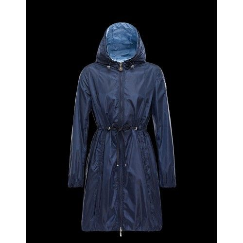 2016 Donkerblauw Moncler Dames Jas Sale Outlet Moncler