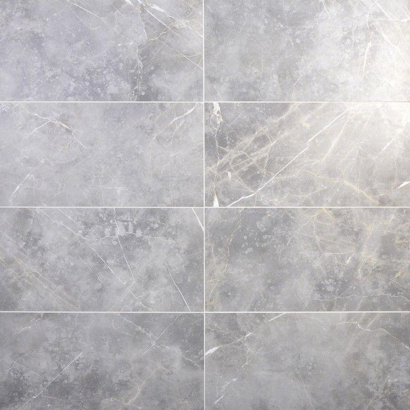 Marble Tech Grigio Imperiale 12x24 Matte Porcelain Tile In 2020 Porcelain Tile Marble Look Tile Grey Marble Tile