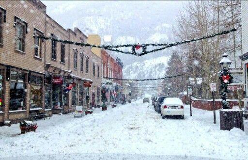 Christmas in Georgetown, Colorado,  USA