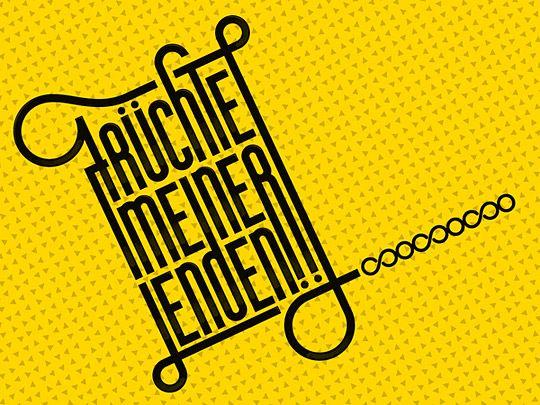 New Typography Designs Früchte meiner Lenden by Joerg Agostini
