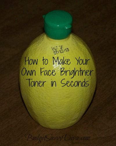 Do it yourself face toner mix together 12 cup of lemon juice 1 do it yourself face toner mix together 12 cup of lemon juice 1 cup of water and 2 tablespoons of rubbing alcohol apply toner with a cotton pad or solutioingenieria Images
