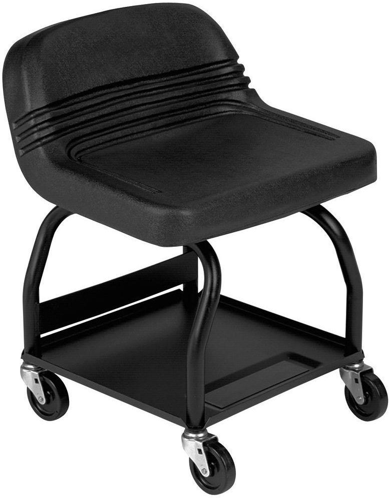 Heavy-Duty Shop/Garage Rolling Padded Mechanics Creeper Seat Stool w/ Tool Tray  sc 1 st  Pinterest & Heavy-Duty Shop/Garage Rolling Padded Mechanics Creeper Seat Stool ... islam-shia.org