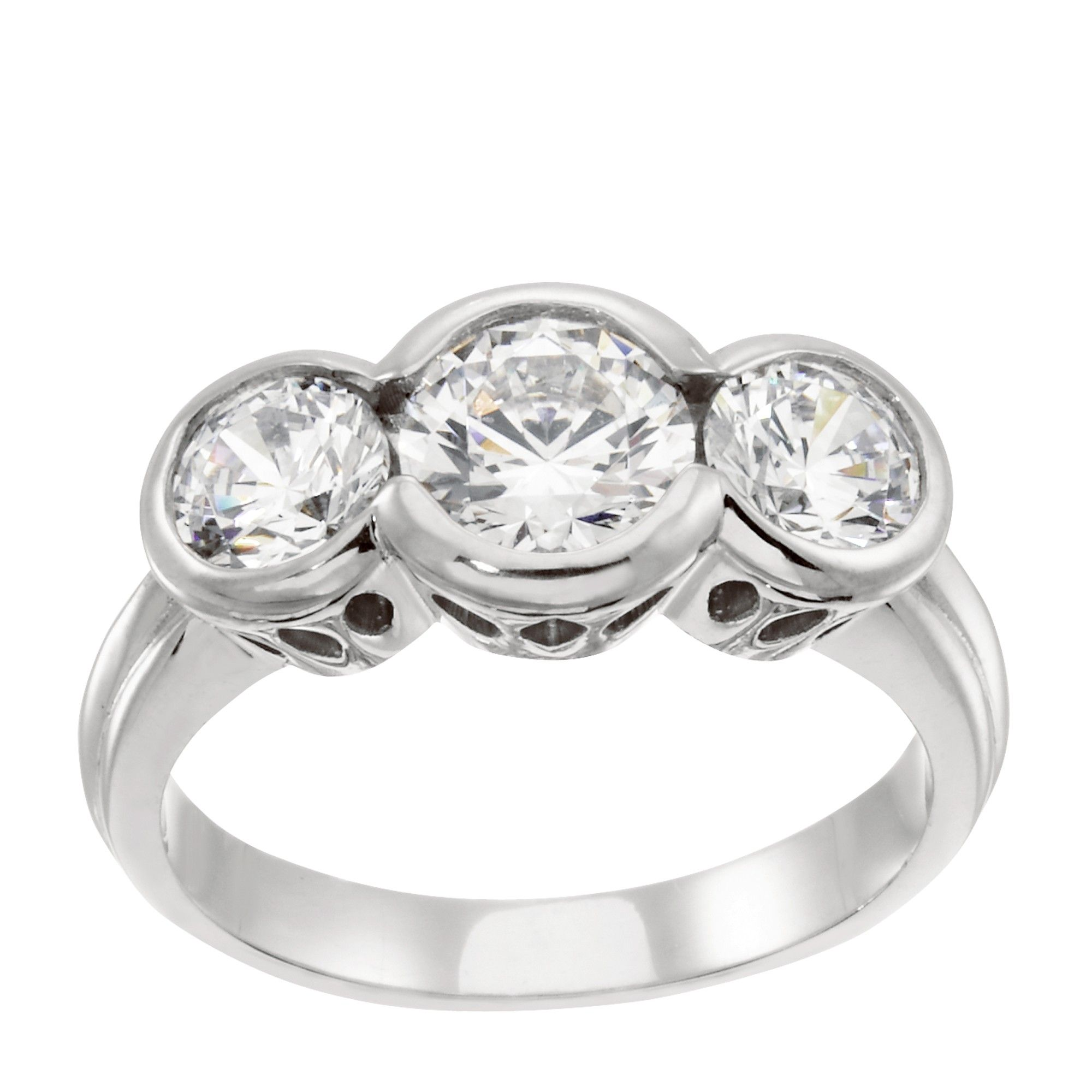 brighton - one of our featured rings in our three stone engagement