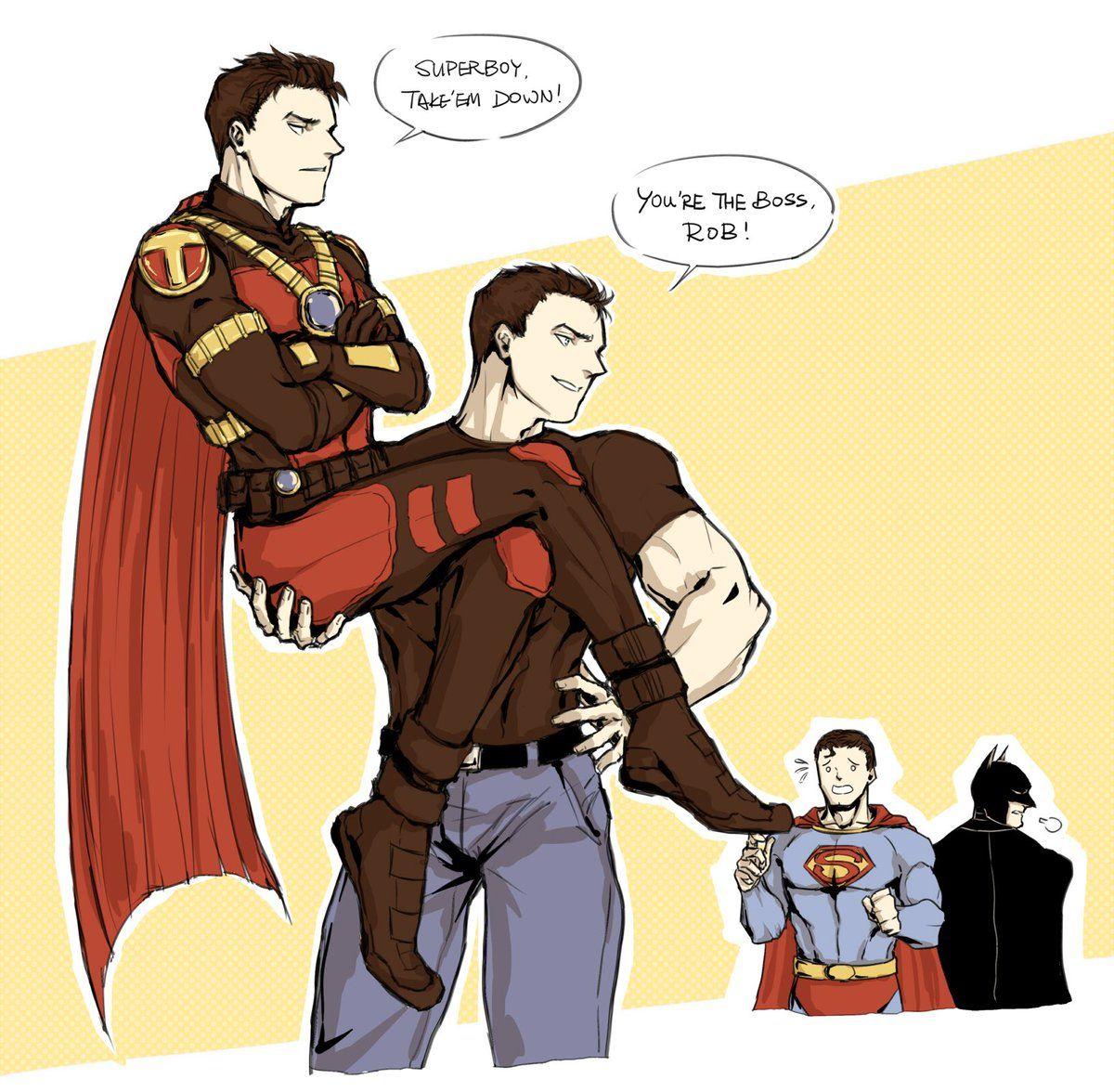 KABE on | Tim/Kon | Superman x batman, Batman, superman, Robin dc