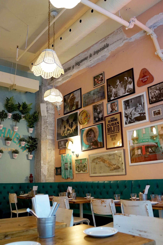 On The Grid La Habanera Ville Marie Montreal Restaurant Interior Ville Marie Cuban Cafe