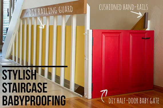 Stylishly Babyproofing Your Staircase And Railings | TheMombot.com Loft  Railing, Stair Railing,