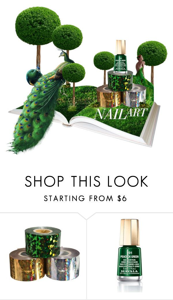 """""""Peacock Green"""" by scarletj17 ❤ liked on Polyvore featuring beauty, Mavala and nailedit"""