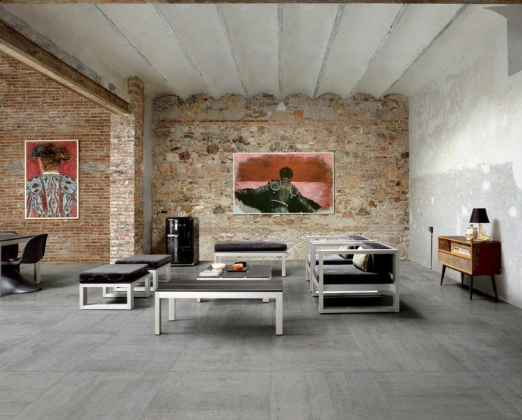 carrelage gris mural et de sol 55 id es int rieur et ext rieur carrelages gris int rieurs. Black Bedroom Furniture Sets. Home Design Ideas
